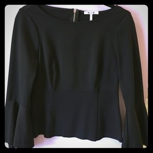 Ponte top with flared sleeves